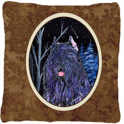 Starry Night Bouvier Des Flandres Indoor/Outdoor Throw Pillow