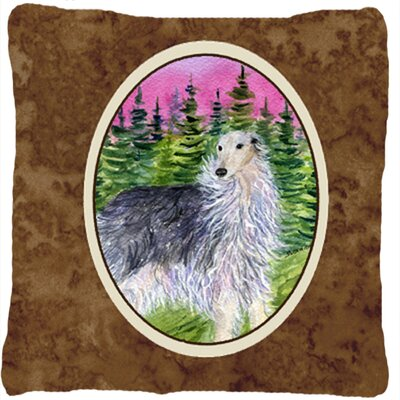 Borzoi Indoor/Outdoor Throw Pillow