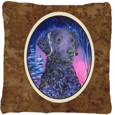 Starry Night Curly Coated Retriever Indoor/Outdoor Throw Pillow