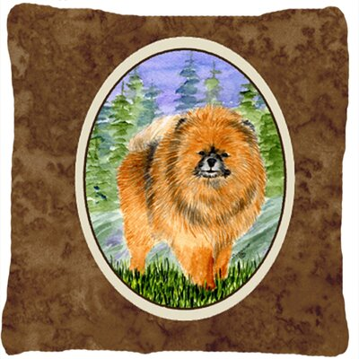 Pomeranian Graphic Print Square Indoor/Outdoor Throw Pillow