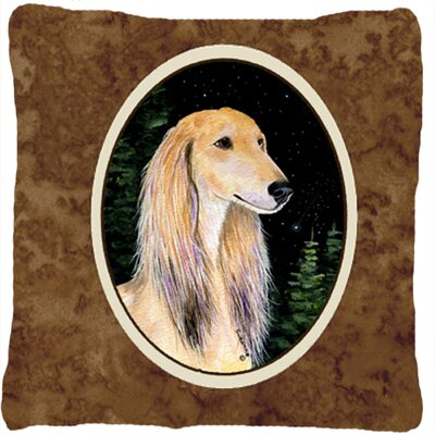 Starry Night Saluki Indoor/Outdoor Throw Pillow