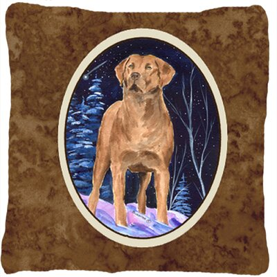 Starry Night Chesapeake Bay Retriever Indoor/Outdoor Throw Pillow