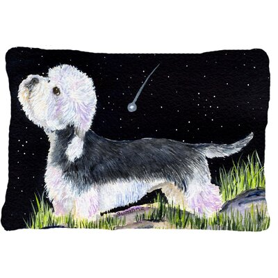 Starry Night Dandie Dinmont Terrier Indoor/Outdoor Throw Pillow