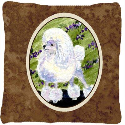 Poodle Modern Indoor/Outdoor Throw Pillow