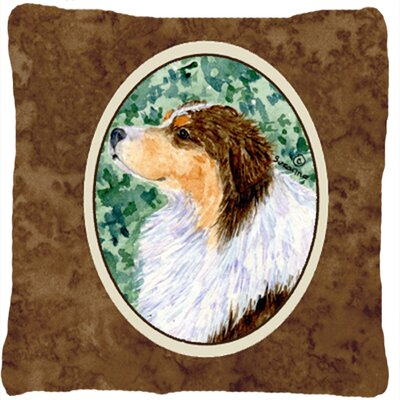 Australian Shepherd Indoor/Outdoor Graphic Print Throw Pillow