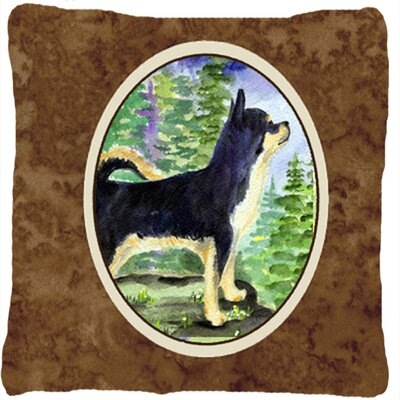 Chihuahua Indoor/Outdoor Square Brown Throw Pillow