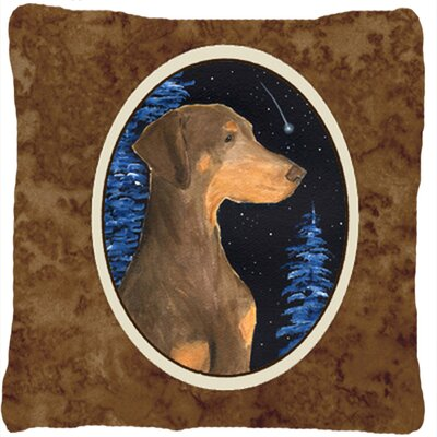 Starry Night Doberman Indoor/Outdoor Throw Pillow