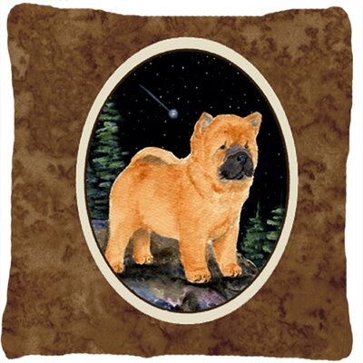 Starry Night Chow Chow Indoor/Outdoor Throw Pillow