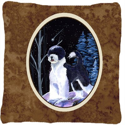 Starry Night Portuguese Water Dog Indoor/Outdoor Throw Pillow