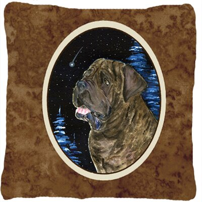 Starry Night Mastiff Indoor/Outdoor Throw Pillow
