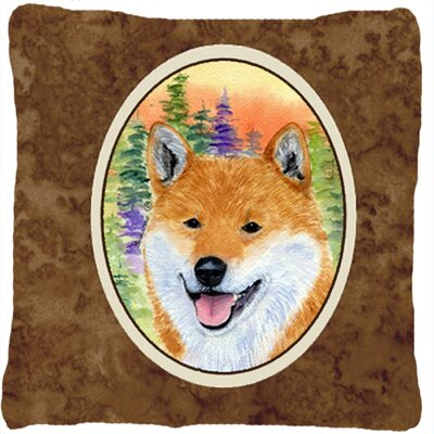 Shiba Inu Indoor/Outdoor Throw Pillow