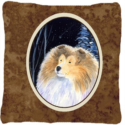 Starry Night Collie Indoor/Outdoor Throw Pillow