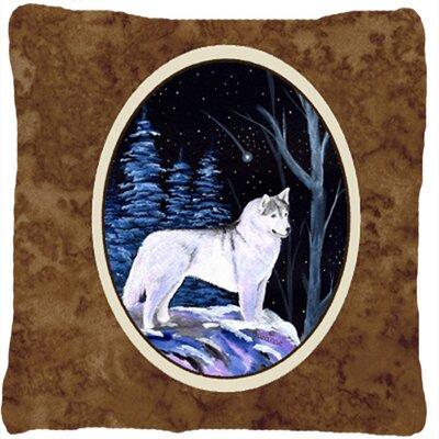 Starry Night Siberian Husky Indoor/Outdoor Throw Pillow