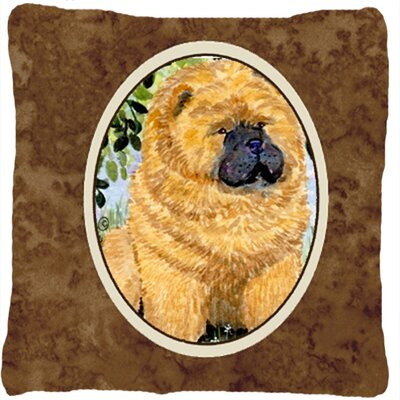 Chow Chow Brown Indoor/Outdoor Throw Pillow