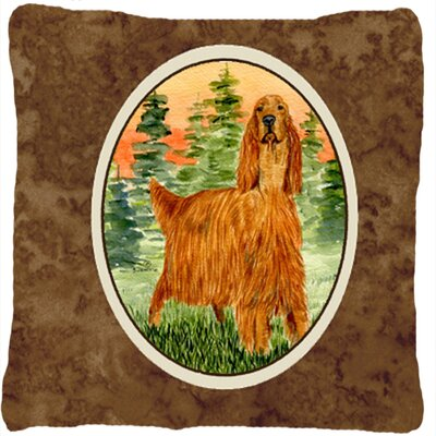 Irish Setter Indoor/Outdoor Throw Pillow