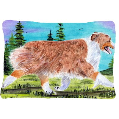Australian Shepherd Graphic Print Rectangular Indoor/Outdoor Throw Pillow