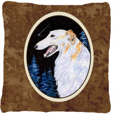Borzoi Head Indoor/Outdoor Throw Pillow