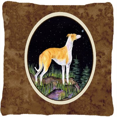 Starry Night Whippet Indoor/Outdoor Throw Pillow