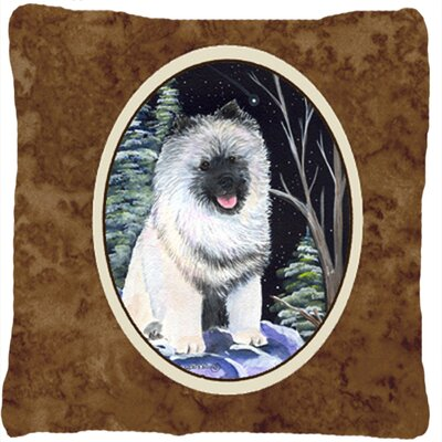 Starry Night Keeshond Indoor/Outdoor Throw Pillow