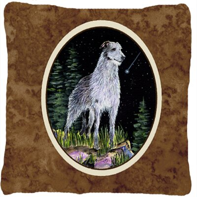 Starry Night Scottish Deerhound Indoor/Outdoor Throw Pillow