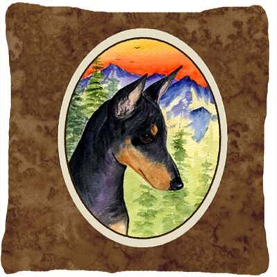 Manchester Terrier Indoor/Outdoor Throw Pillow