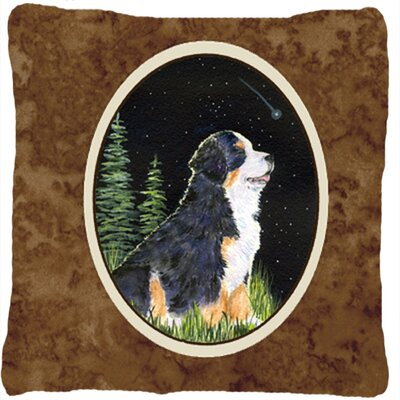 Starry Night Bernese Mountain Dog Indoor/Outdoor Throw Pillow
