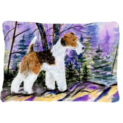 Fox Terrier Rectangular Indoor/Outdoor Throw Pillow