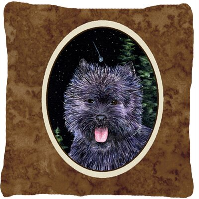 Starry Night Cairn Terrier Indoor/Outdoor Throw Pillow