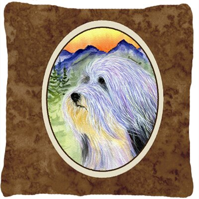 Bearded Collie Indoor/Outdoor Throw Pillow