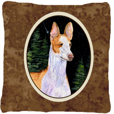 Starry Night Ibizan Hound Indoor/Outdoor Throw Pillow