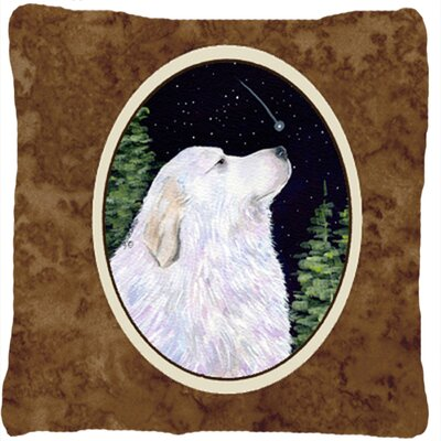 Starry Night Great Pyrenees Indoor/Outdoor Throw Pillow