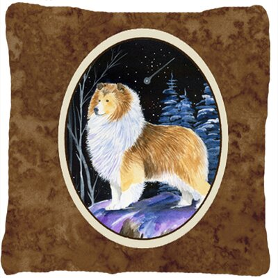 Starry Night Sheltie Indoor/Outdoor Throw Pillow