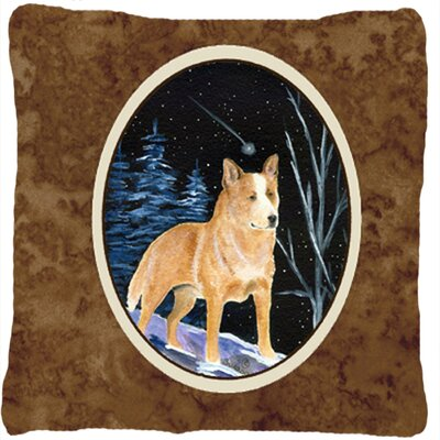 Starry Night Australian Cattle Dog Indoor/Outdoor Throw Pillow