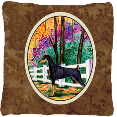 Doberman Indoor/Outdoor BrownThrow Pillow