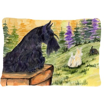 Scottish Terrier Indoor/Outdoor Rectangular Throw Pillow