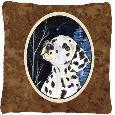 Starry Night Dalmatian Indoor/Outdoor Throw Pillow