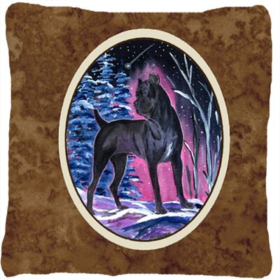 Starry Night Cane Corso Indoor/Outdoor Throw Pillow