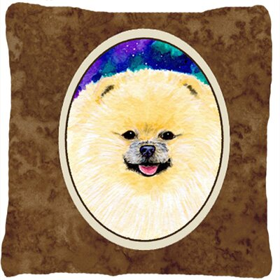 Pomeranian Modern Indoor/Outdoor Throw Pillow