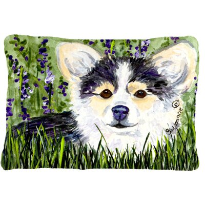 Chihuahua Indoor/Outdoor Green/Black Throw Pillow