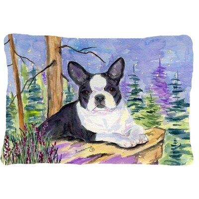 Boston Terrier Indoor/Outdoor Rectangular Throw Pillow