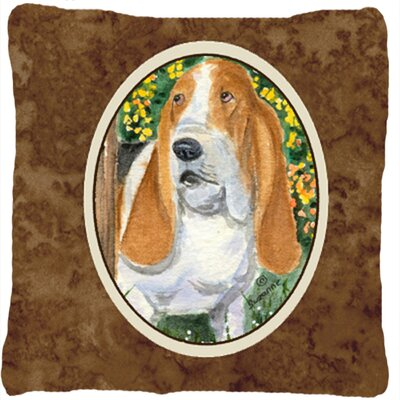 Basset Hound Indoor/Outdoor Throw Pillow
