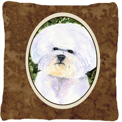 Bichon Frise Brown/White Indoor/Outdoor Throw Pillow