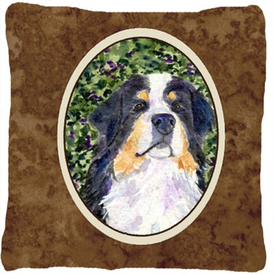 Dog Brown Indoor/Outdoor Throw Pillow