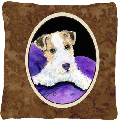 Fox Terrier Indoor/Outdoor Throw Pillow