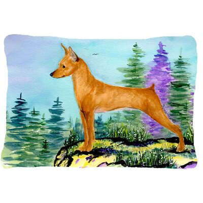 Min Pin Indoor/Outdoor Throw Pillow