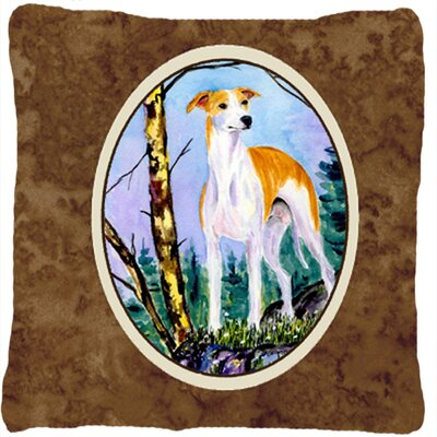 Whippet Indoor/Outdoor Throw Pillow