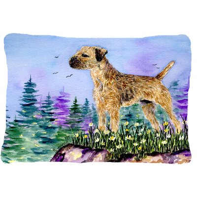 Border Terrier Indoor/Outdoor Rectangular Throw Pillow