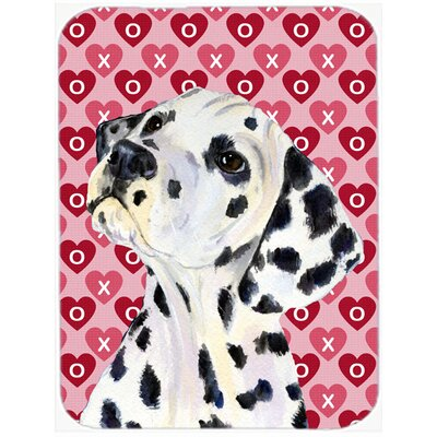 Valentine Hearts Dalmatian Hearts Love and Valentine's Day Portrait Glass Cutting Board