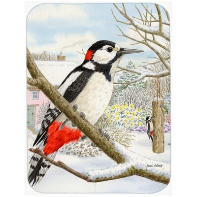 Spotted Woodpecker Glass Cutting Board