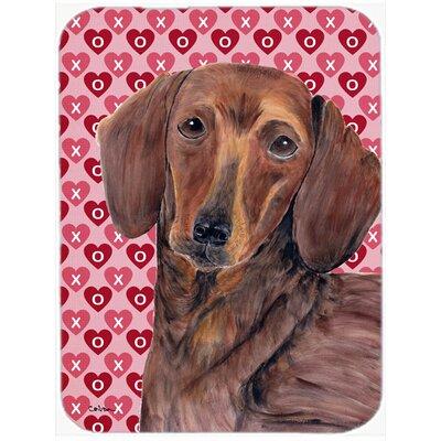 Valentine Hearts Dachshund Hearts Love and Valentine's Day Portrait Glass Cutting Board